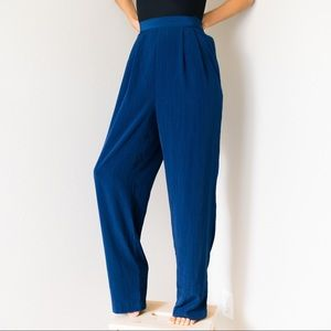 Vintage 80s High Waisted Silky Trousers Pants